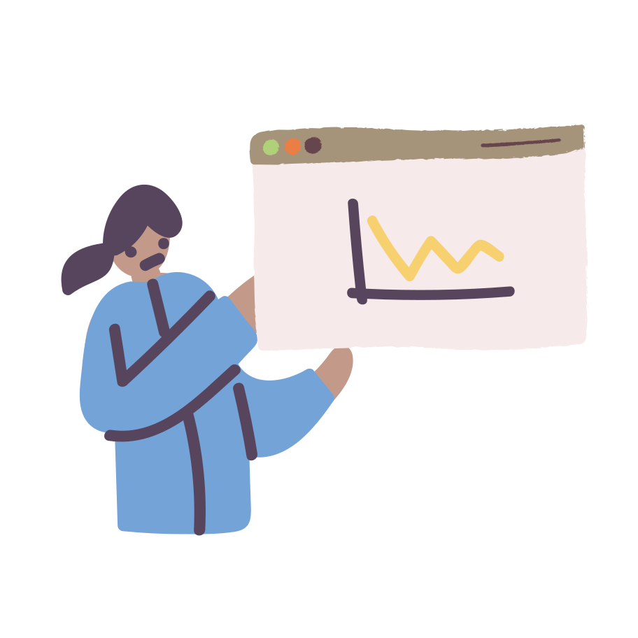 Presenting chart  Clipart illustration in PNG, SVG