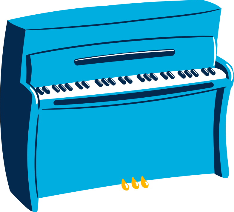 piano Clipart illustration in PNG, SVG