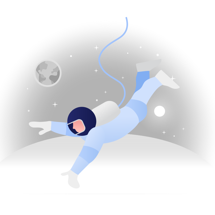 Astronaut in the space Clipart illustration in PNG, SVG
