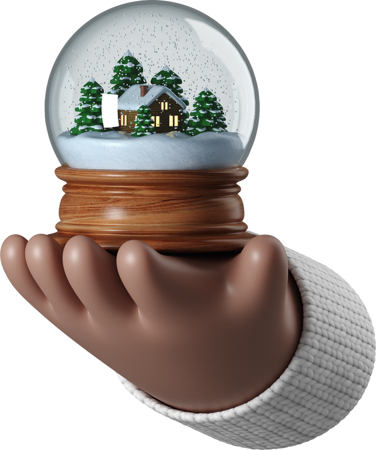 hands snow globe Clipart illustration in PNG, SVG