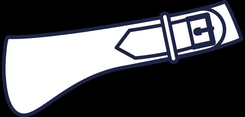 sign in  cowboy belt line Clipart illustration in PNG, SVG