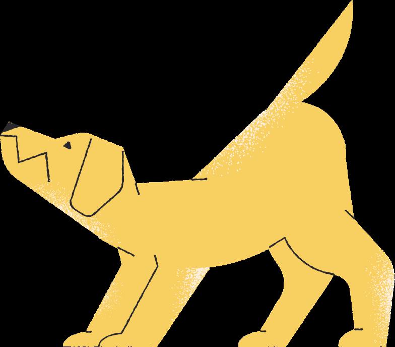 dog pulling Clipart illustration in PNG, SVG