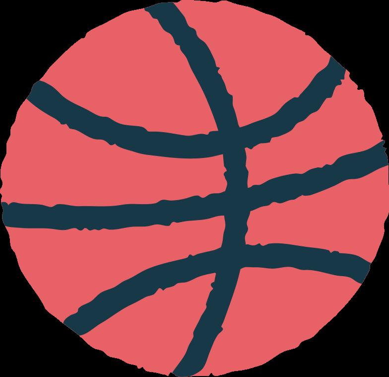 basketball Clipart illustration in PNG, SVG