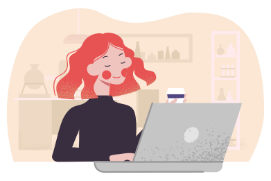 style Enjoying remote work images in PNG and SVG | Icons8 Illustrations