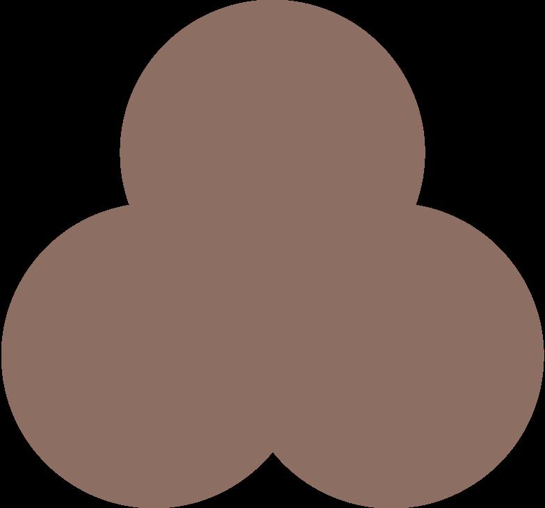 trefoil brown Clipart illustration in PNG, SVG