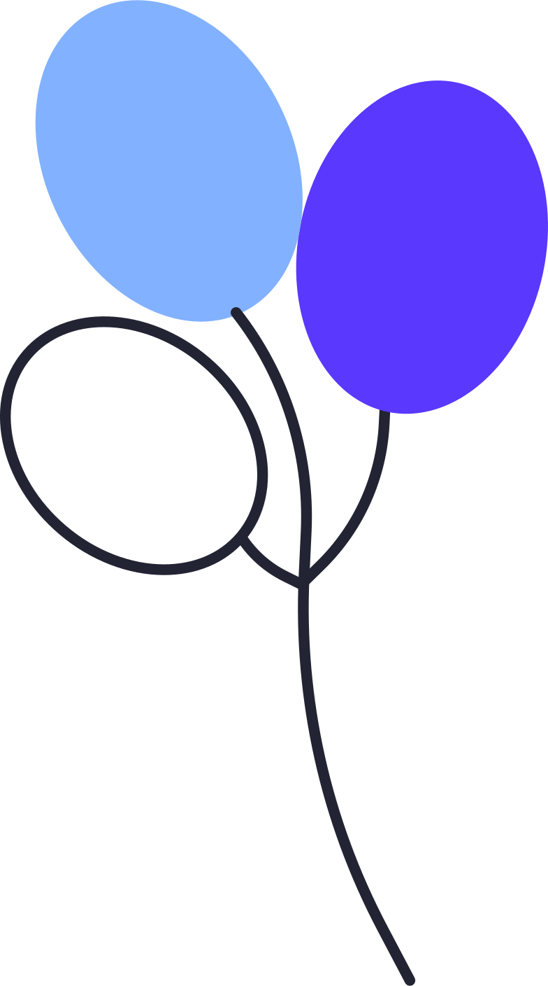 birthday party  air balloons Clipart illustration in PNG, SVG
