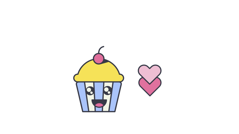 Cute Cupcake Clipart illustration in PNG, SVG