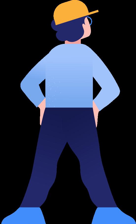boy back Clipart illustration in PNG, SVG