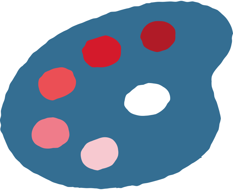 art palette Clipart illustration in PNG, SVG