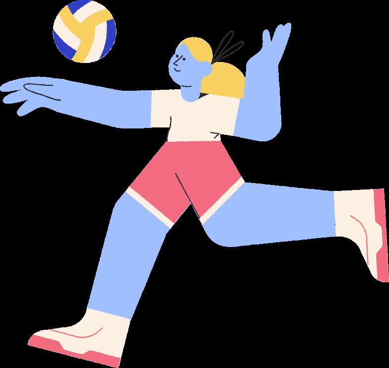 Ilustración de clipart de vóleibol en PNG, SVG