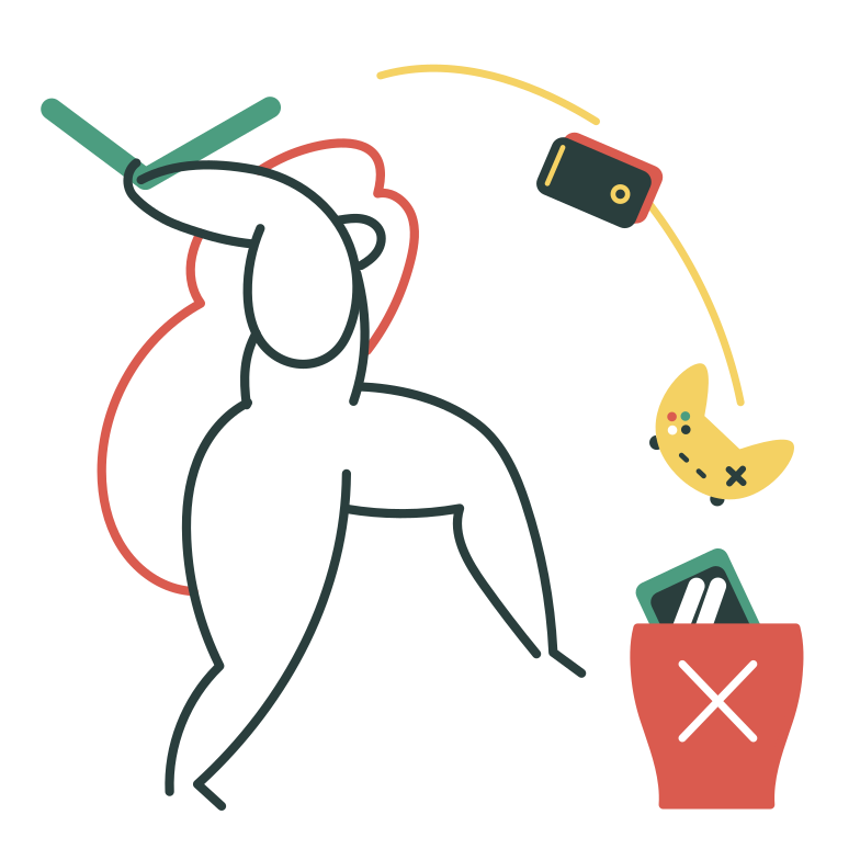 Tired of devices Clipart illustration in PNG, SVG