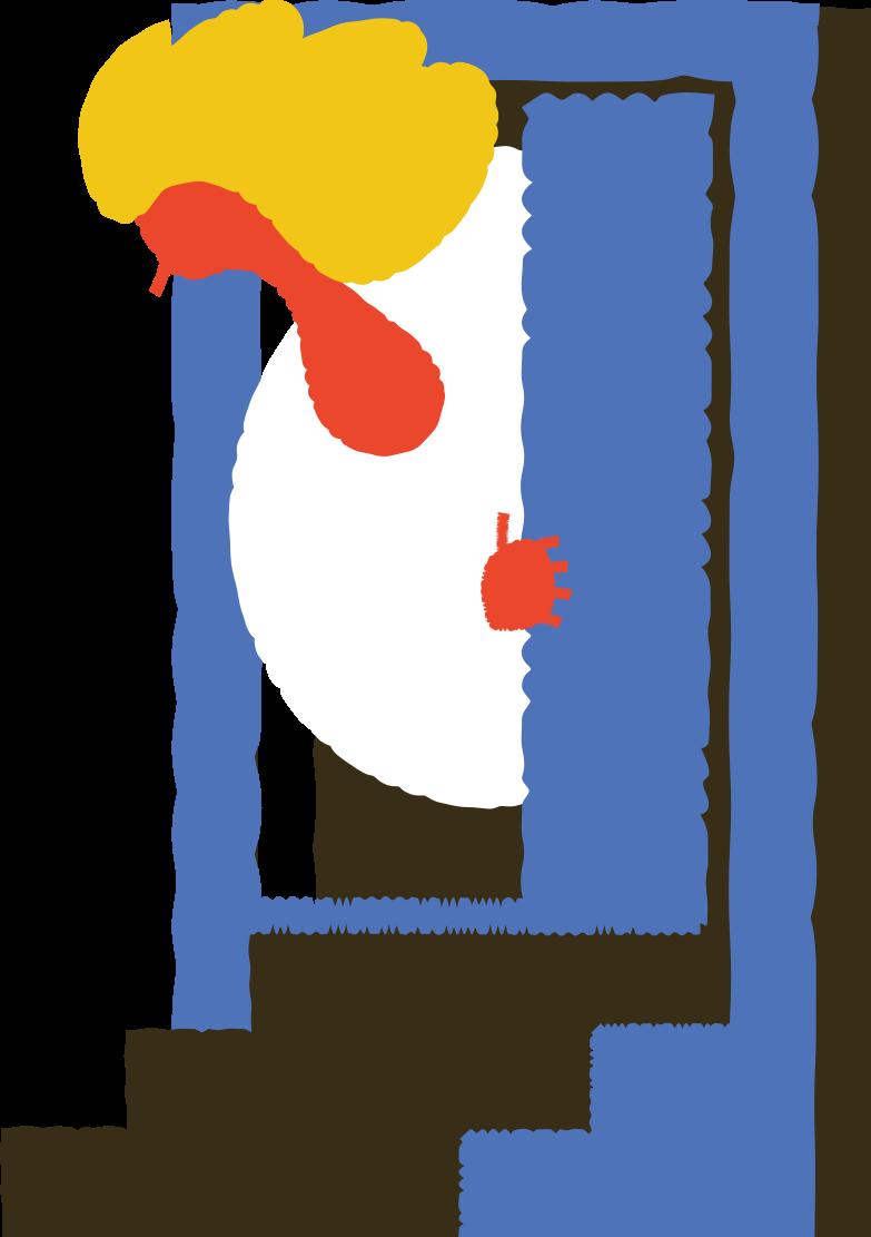 man peeking Clipart illustration in PNG, SVG