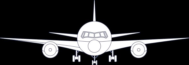plane 1 line Clipart illustration in PNG, SVG