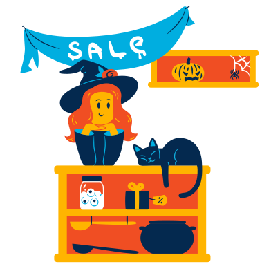 style Halloween sale images in PNG and SVG | Icons8 Illustrations