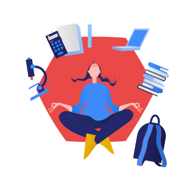 style The student is meditating images in PNG and SVG | Icons8 Illustrations