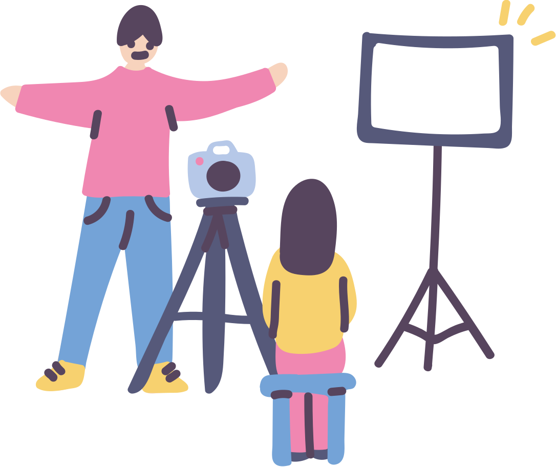 Photographer, you're all set Clipart illustration in PNG, SVG