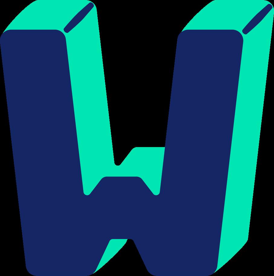 letter w Clipart illustration in PNG, SVG