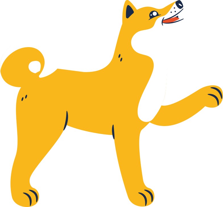 doge happy Clipart illustration in PNG, SVG