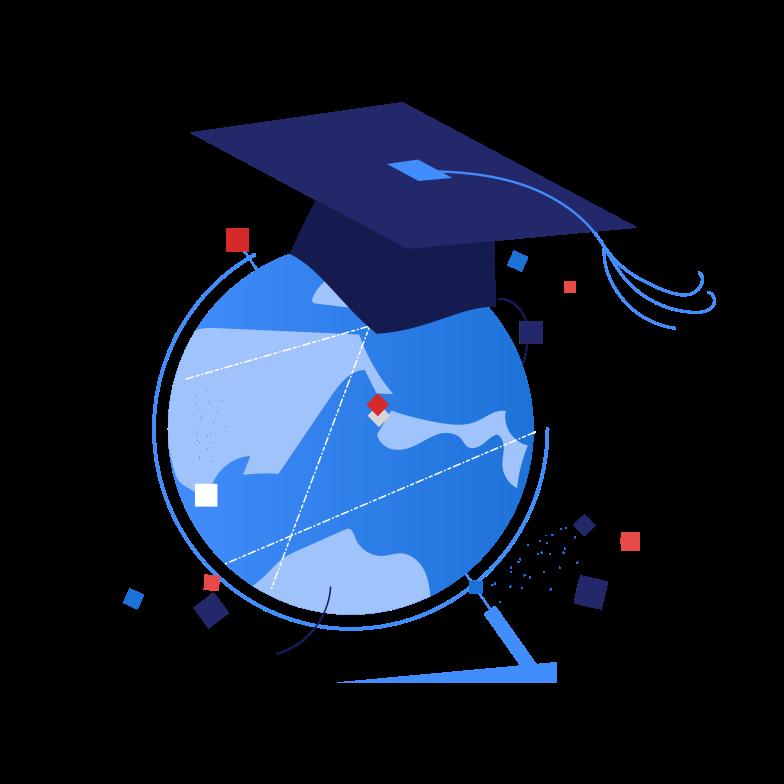 International education Clipart illustration in PNG, SVG