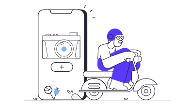 style Technology app delivery  images in PNG and SVG | Icons8 Illustrations