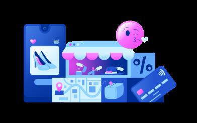 Иллюстрация Электронная коммерция в стиле  в PNG и SVG | Icons8 Иллюстрации