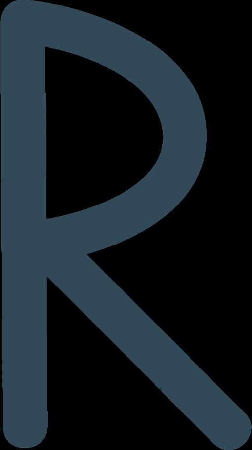 r dark blue Clipart illustration in PNG, SVG