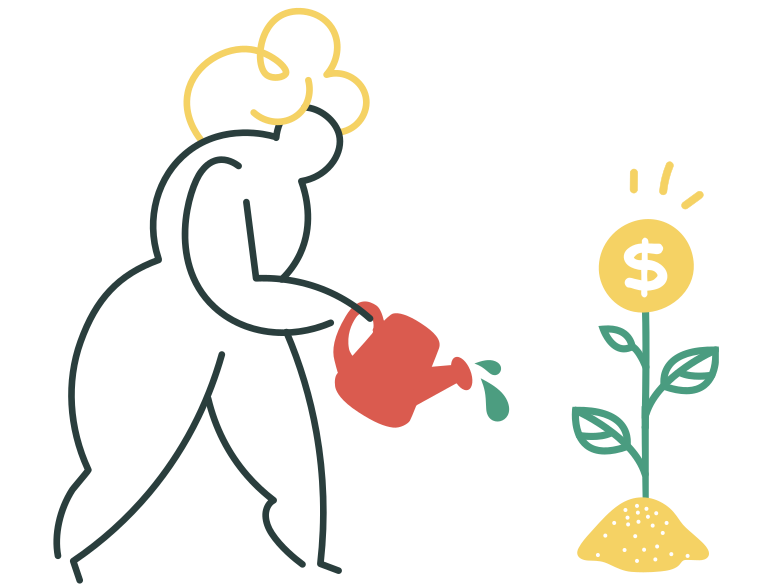 Dollar growth Clipart illustration in PNG, SVG