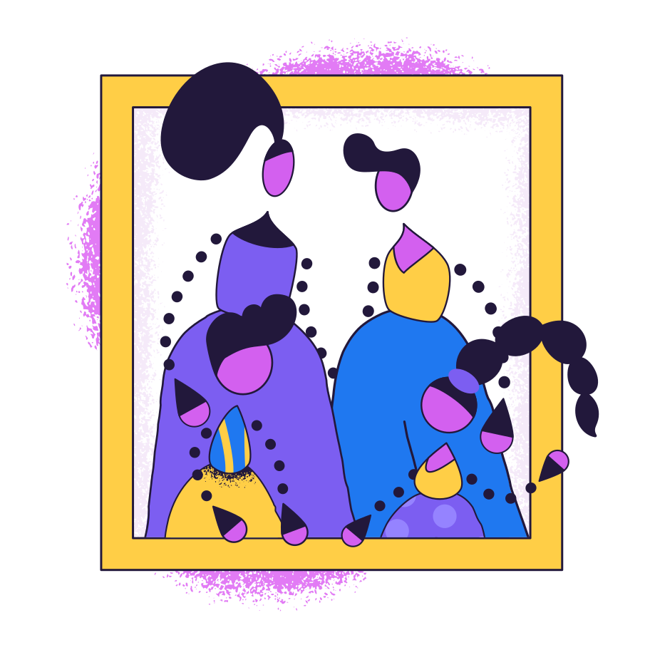 Family photo Clipart illustration in PNG, SVG