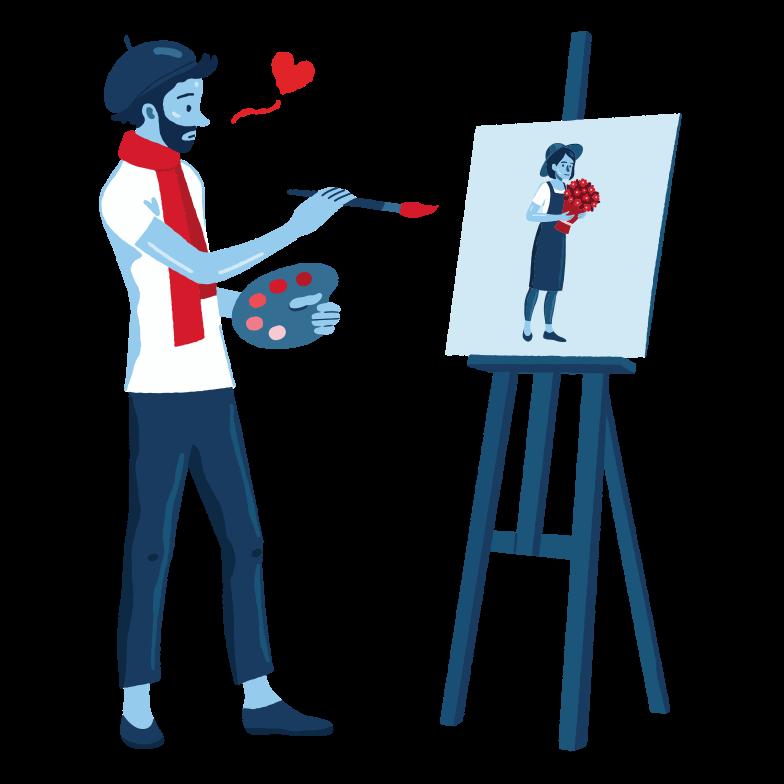 Клипарт Неожиданная любовь в PNG и SVG