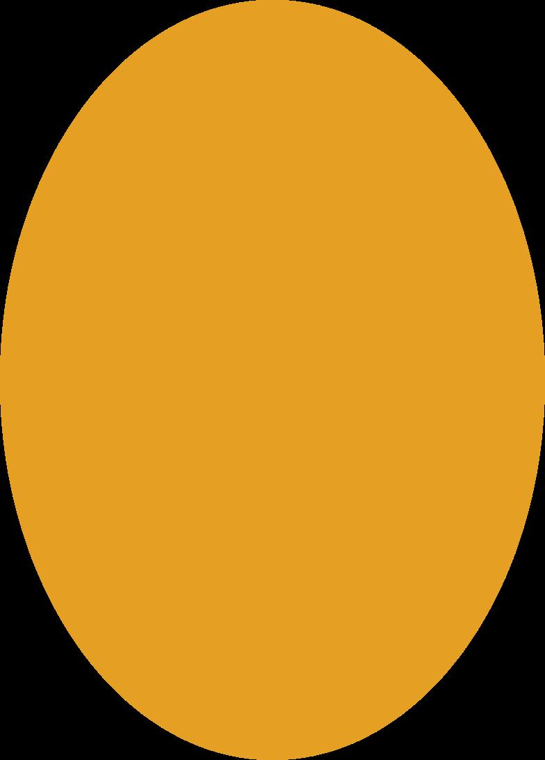 Orange ellipse Clipart-Grafik als PNG, SVG