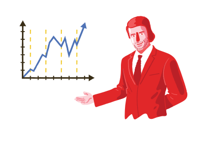 style Businessman and project success graph images in PNG and SVG | Icons8 Illustrations