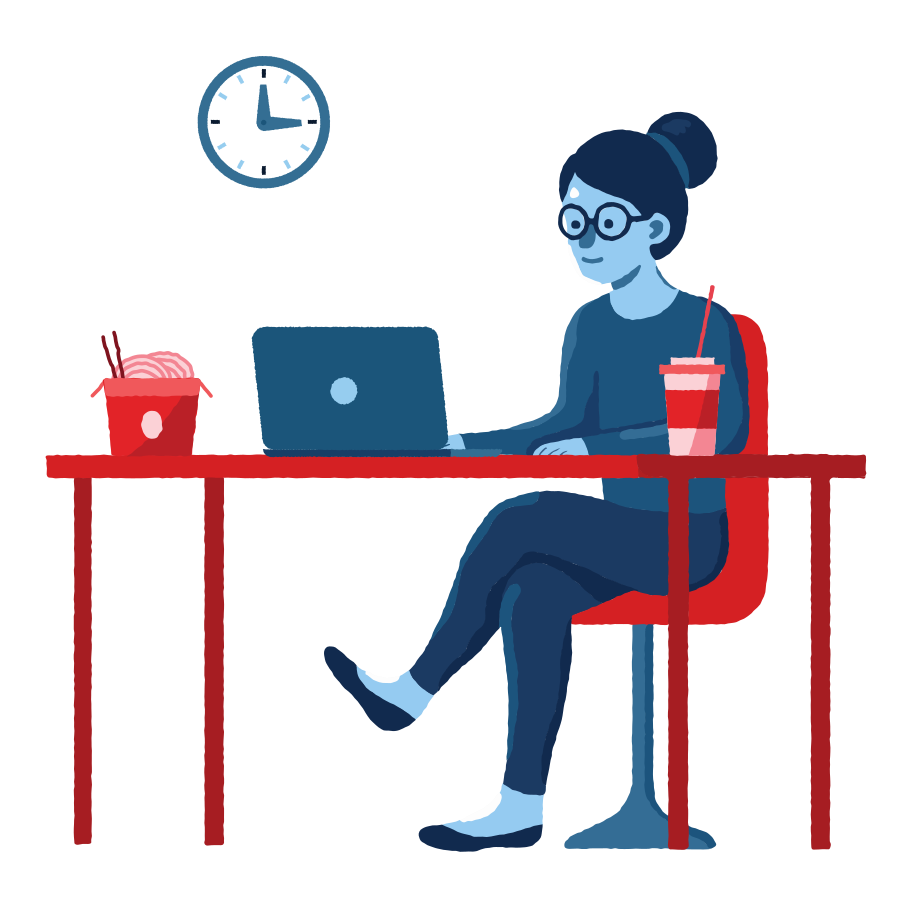 style Lunch at work Vector images in PNG and SVG | Icons8 Illustrations