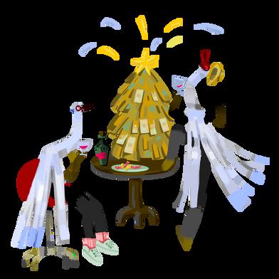 Иллюстрация Инвесторы в канун рождества в стиле  в PNG и SVG | Icons8 Иллюстрации