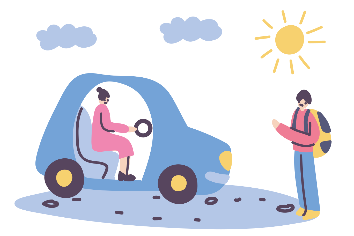 Hitchhiker Clipart illustration in PNG, SVG