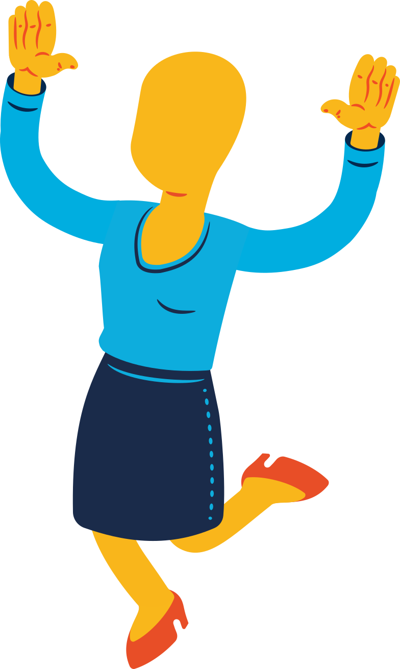 woman jumping Clipart illustration in PNG, SVG
