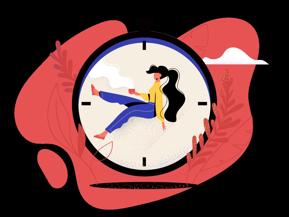 Ilustración de clipart de esperando en PNG, SVG