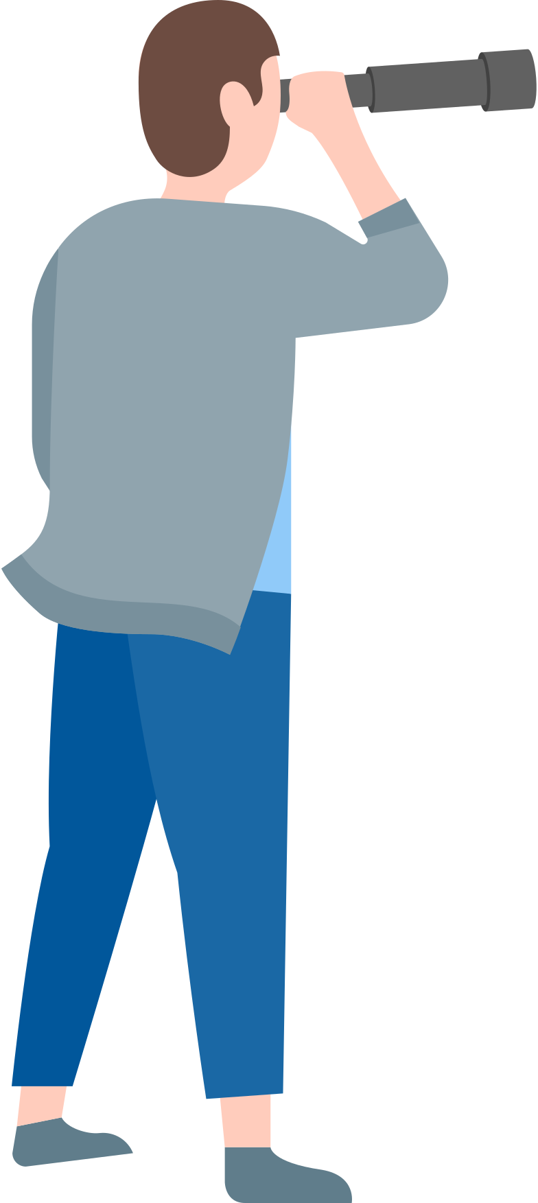 searching man Clipart illustration in PNG, SVG