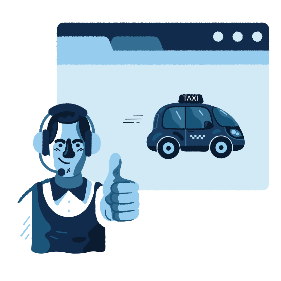 Taxi service Clipart illustration in PNG, SVG