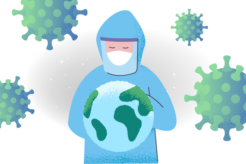 style World fights against the virus Vector images in PNG and SVG | Icons8 Illustrations
