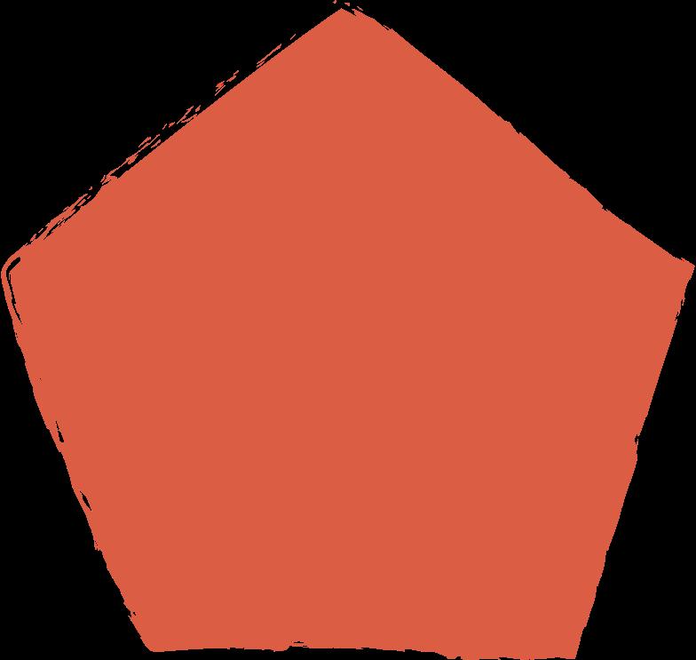 pentagon-red Clipart illustration in PNG, SVG
