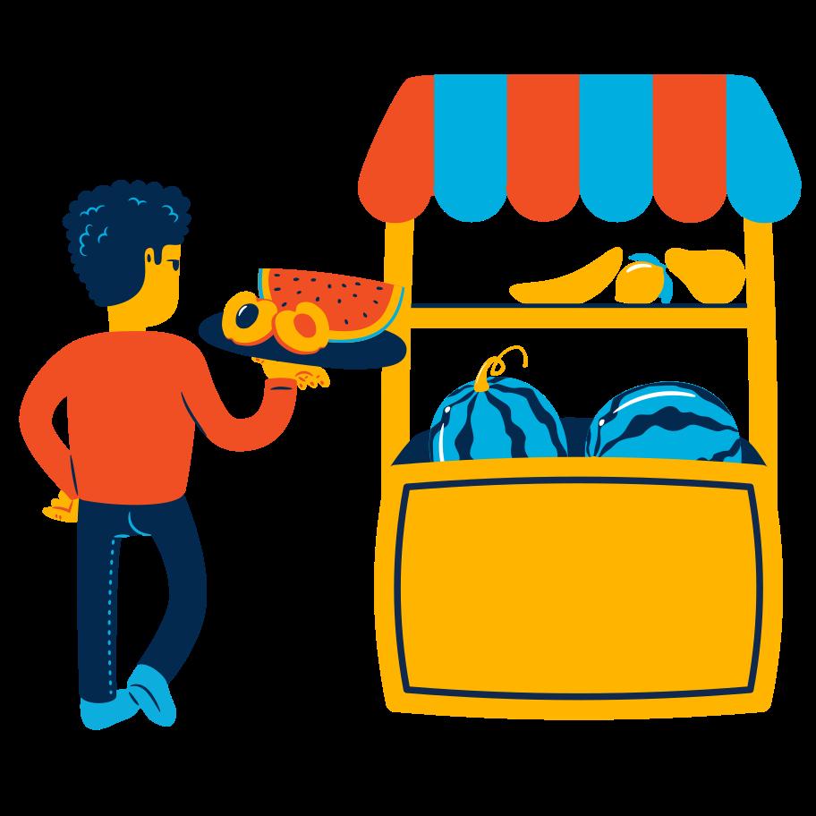 Fruit shop Clipart illustration in PNG, SVG