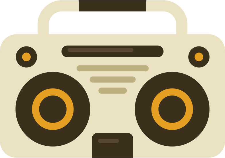 music player boombox Clipart illustration in PNG, SVG