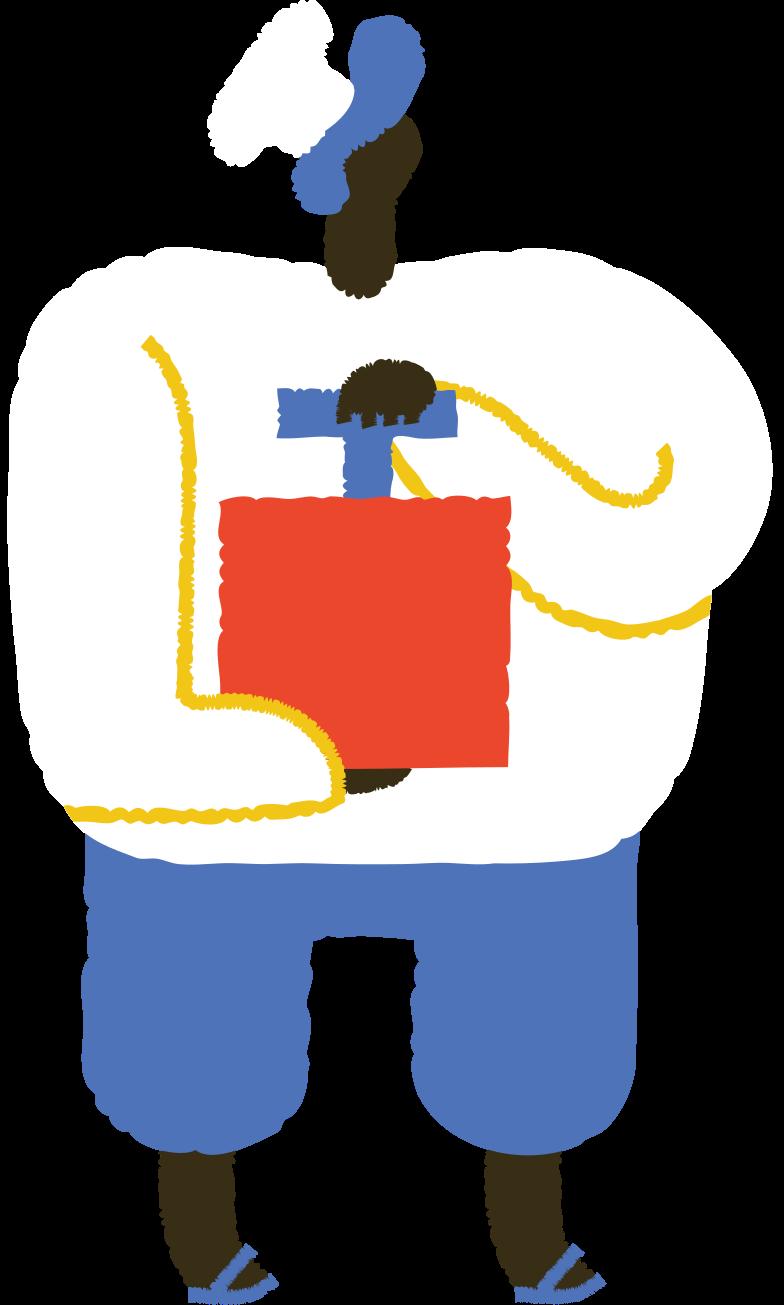 man with detonator Clipart illustration in PNG, SVG
