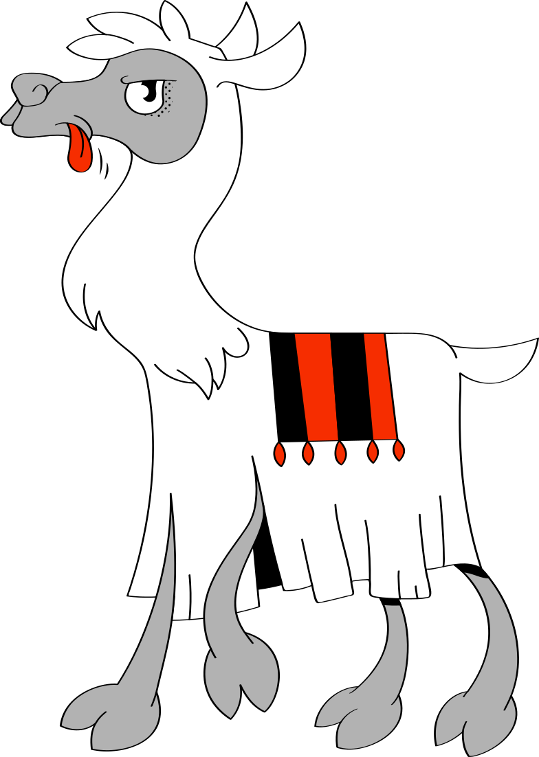 lama Clipart illustration in PNG, SVG