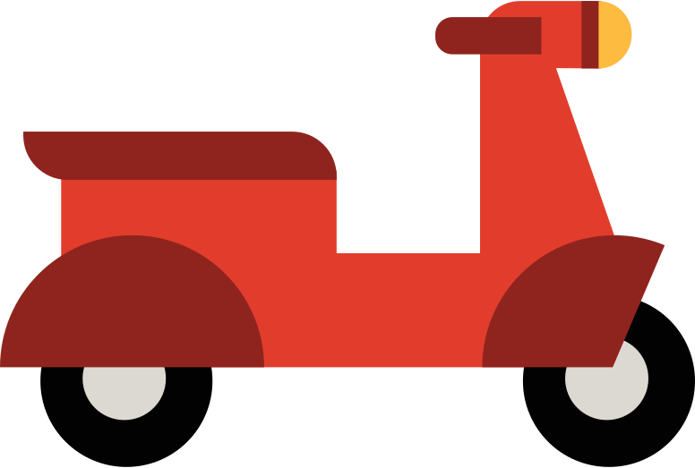 moped Clipart illustration in PNG, SVG