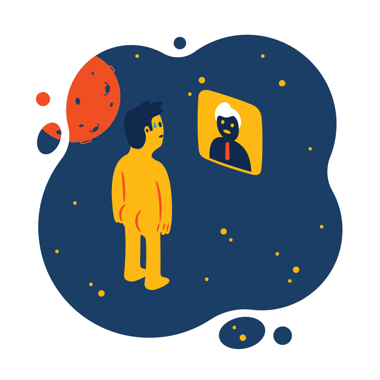 Into the space Clipart illustration in PNG, SVG