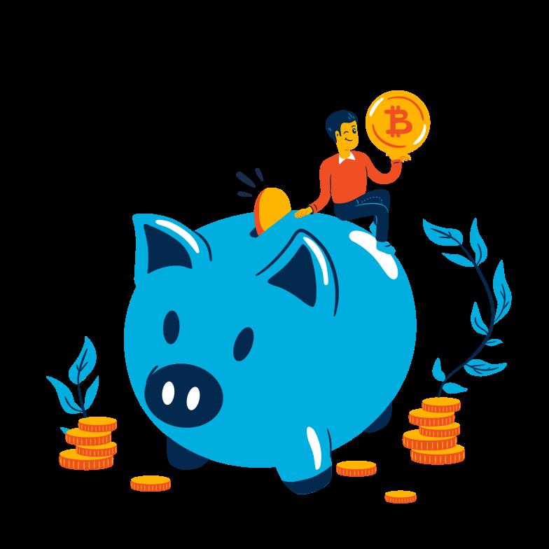 Saving money Clipart illustration in PNG, SVG