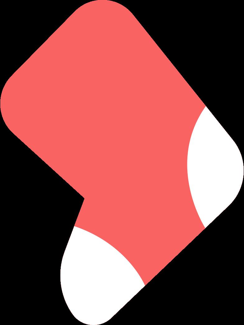 christmas sock no fur Clipart illustration in PNG, SVG