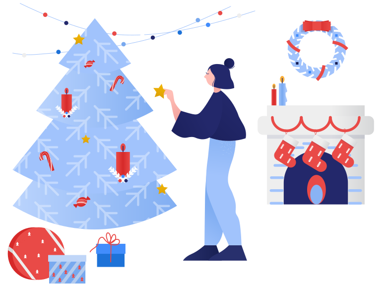 style Decorating home for Christmas Vector images in PNG and SVG | Icons8 Illustrations