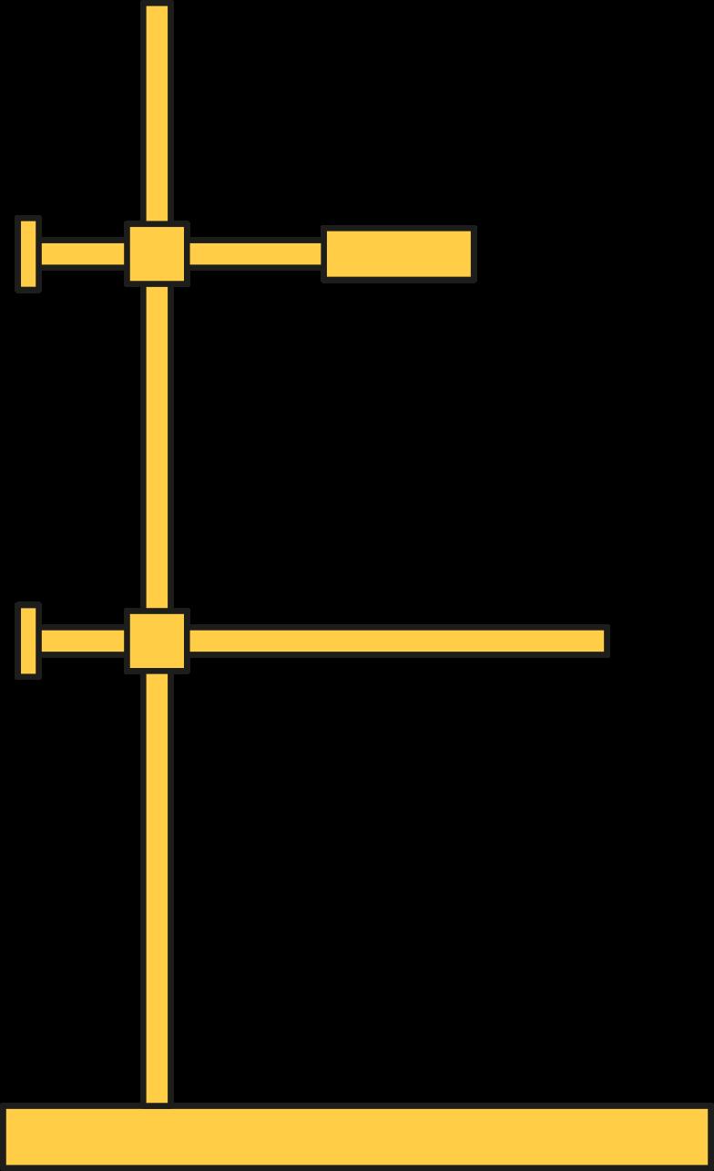 retort stand Clipart illustration in PNG, SVG